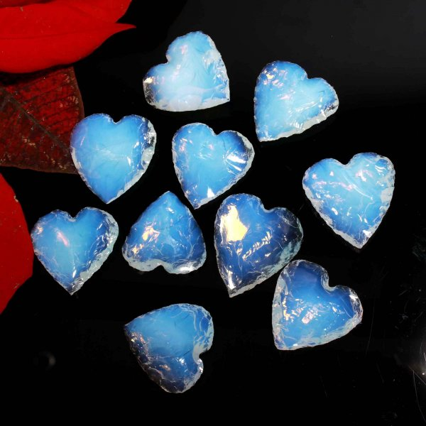 Opalite Heart Carving