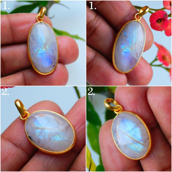 Moonstone Gold Plated Mix Pendant Jewelry