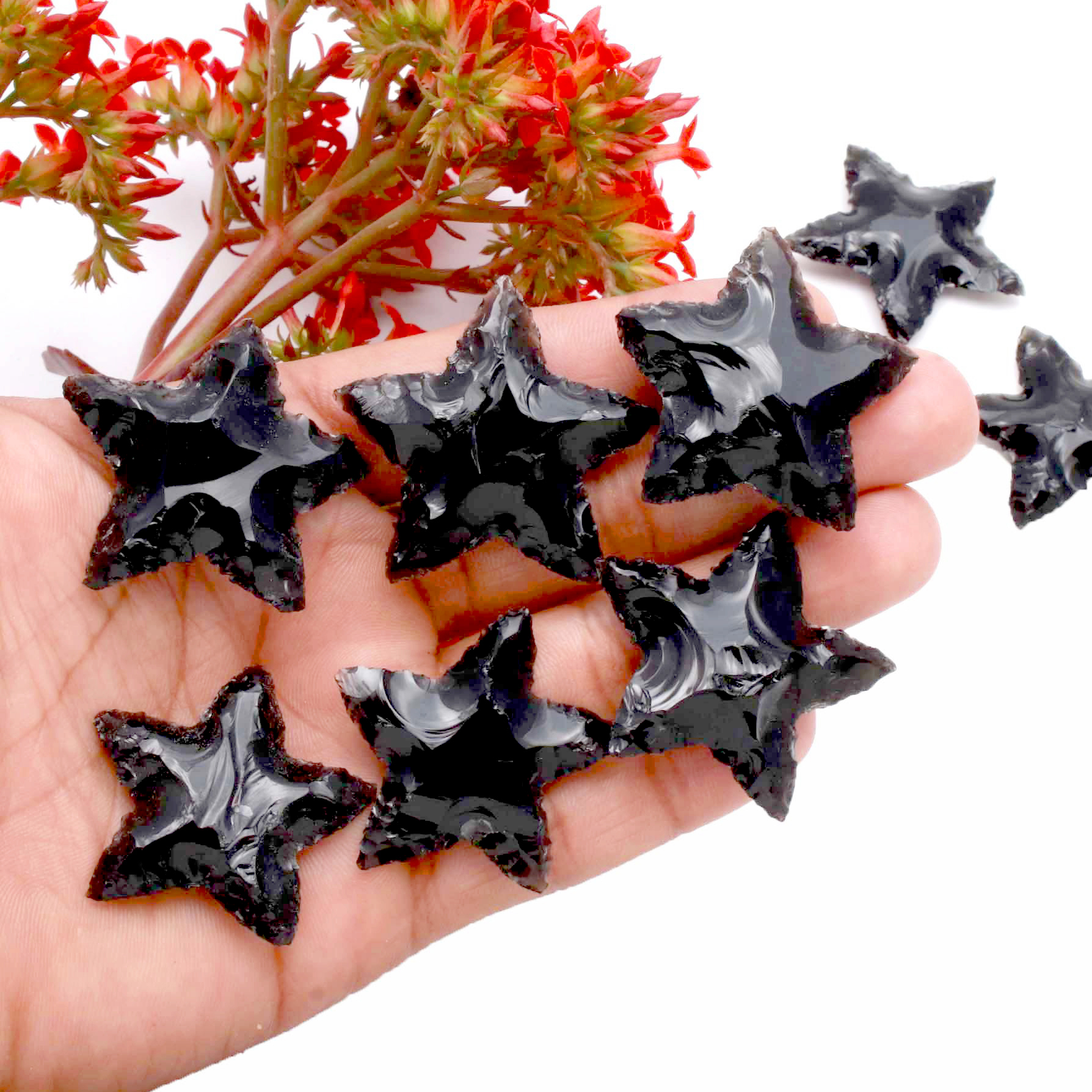 Black Obsidian Star Carving