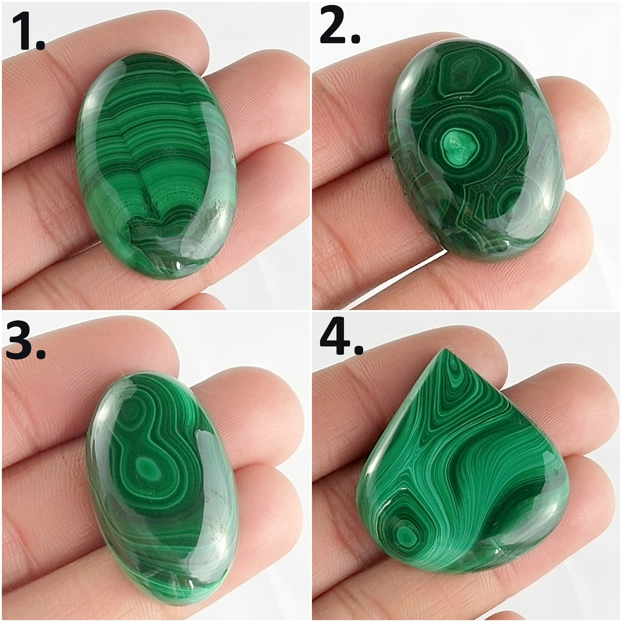 100% NATURAL GREEN MALACHITE OVAL PEAR ROUND HEART CABOCHON GEMSTONE