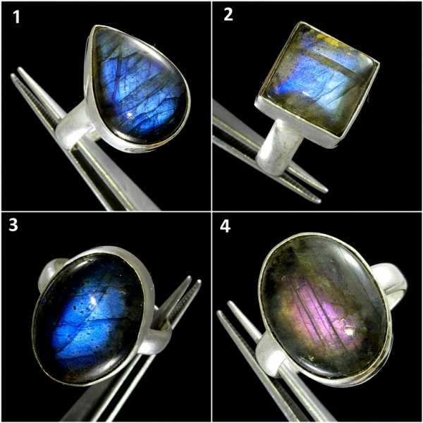 Labradorite Cabochon Overly Ring Gemstone