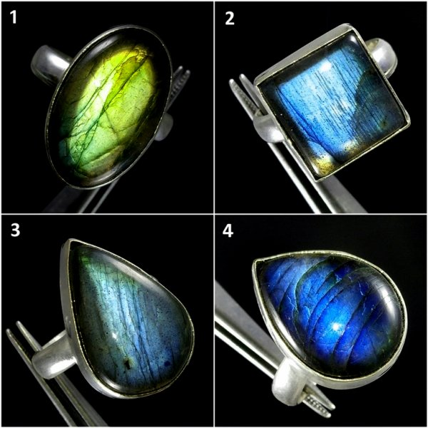 Labradorite Overly Ring Gemstone
