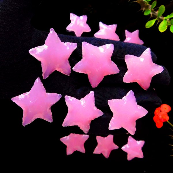 Rose Quartz Star Carving