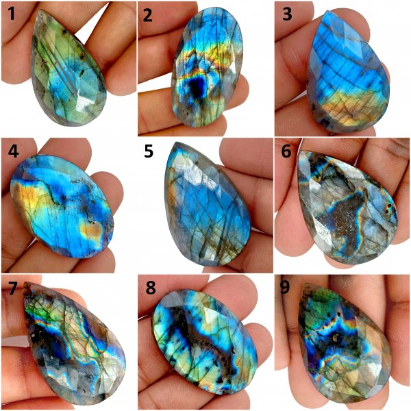 Natural Labradorite mix shape cut Loose Gemstone