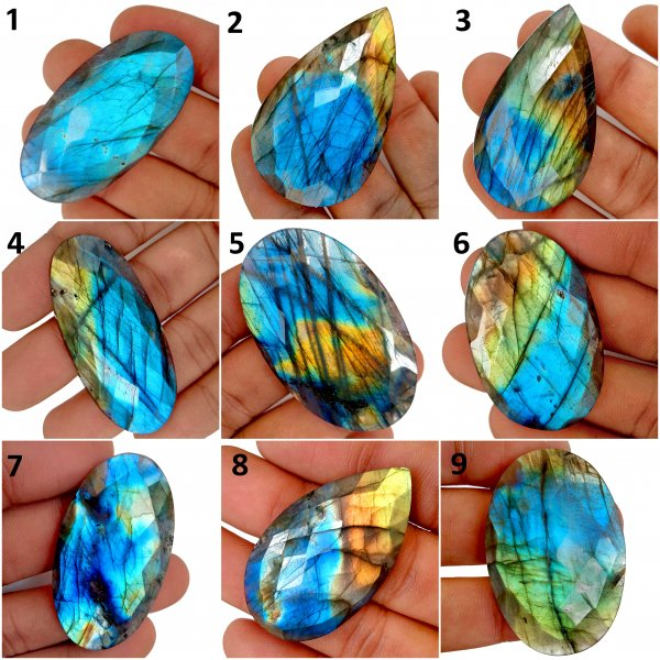 Natural Labradorite Rose cut Gemstone