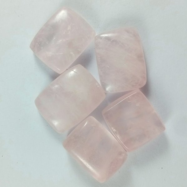 248CTS 5Pcs. WHOLESALE LOT NATURAL ROSE QUARTZ CABOCHON LOOSE GEMSTONE