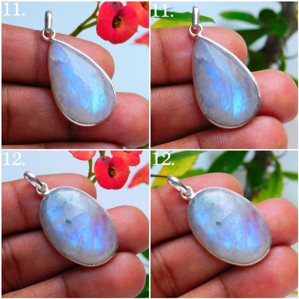 Moonstone Silver Plated Mix Pendant Jewelry