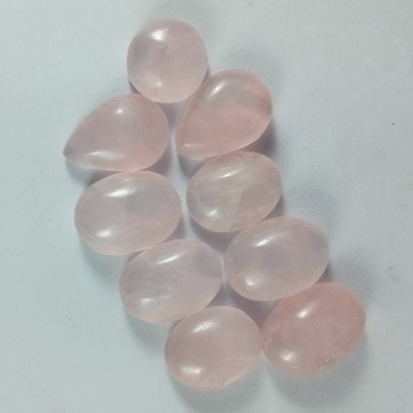 326CTS 9Pcs. WHOLESALE LOT NATURAL ROSE QUARTZ CABOCHON LOOSE GEMSTONE
