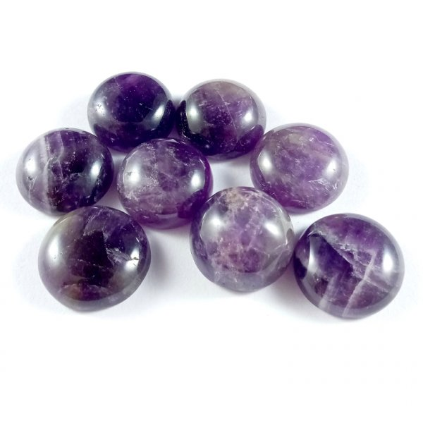 139Cts. 8Pcs. Natural Purple Amethyst Lot Round Loose Cabochon Gemstones