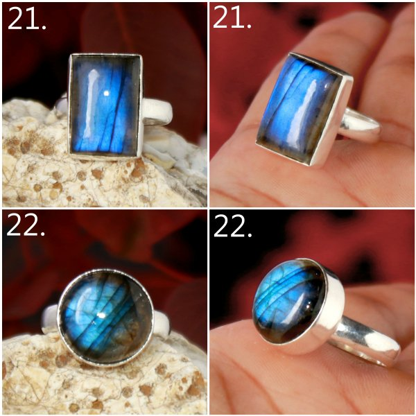 Labradorite Cabochon Mix Shape Overly Ring Gemstone