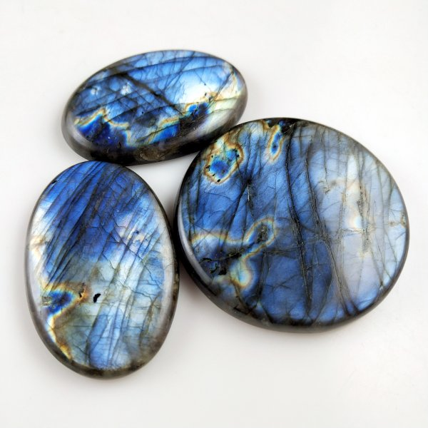 3pcs 403cts Labradorite lot 45X30mm - 50X50mm