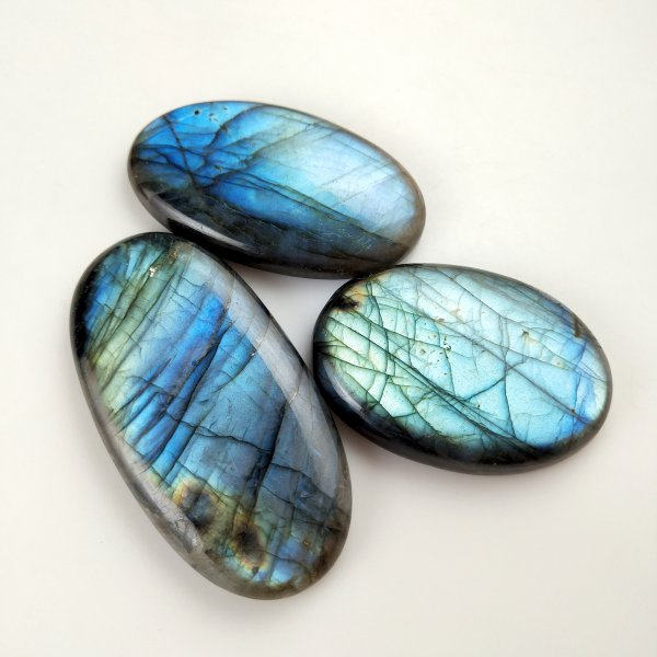 3pcs 381cts Labradorite lot 48X32mm - 64X32mm