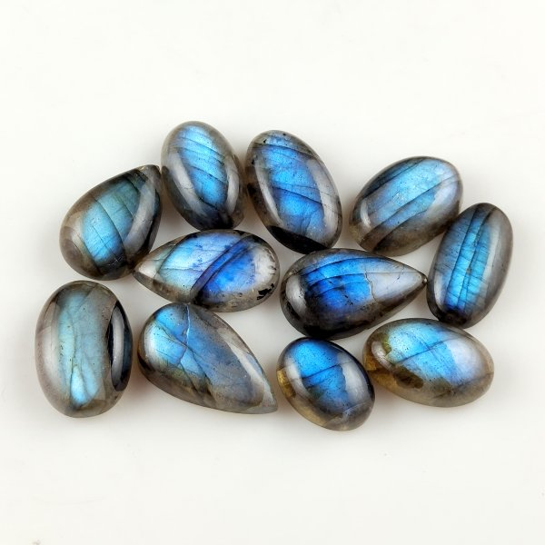 11pcs 126cts Labradorite lot 14X10mm - 22X12mm