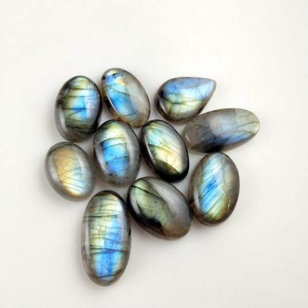10pcs 156cts Labradorite lot 18X12mm - 25X14mm