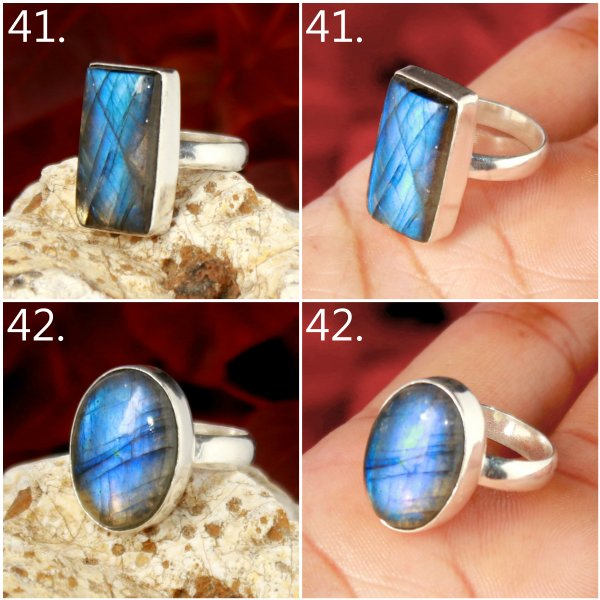 Labradorite Cabochon Mix Shape All Size Overly Ring Gemstone