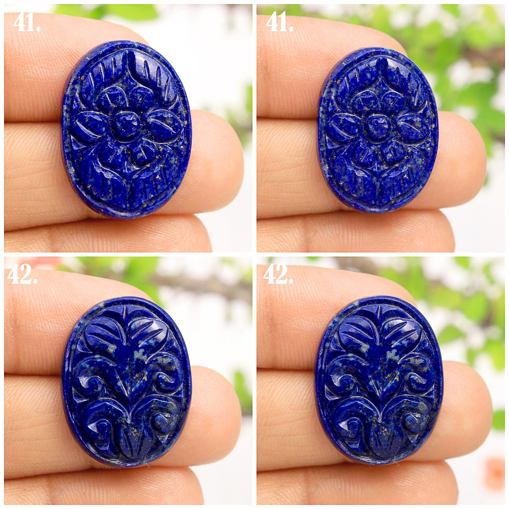 Natural Blue Lapis Lazuli Carving Cabochon Mix Shape Loose Gemstone