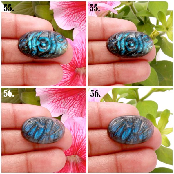 Natural Labradorite Carved Mix Shape Cabochon Loose Gemstone
