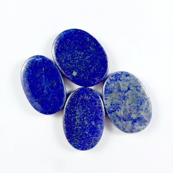282CTS 4Pcs. NATURAL BLUE LAPIS LAZULI OVAL CABOCHON LOOSE GEMSTONE LOTS