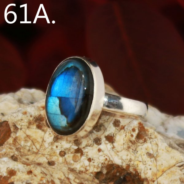 Labradorite Cabochon Mix Overly Ring Gemstone