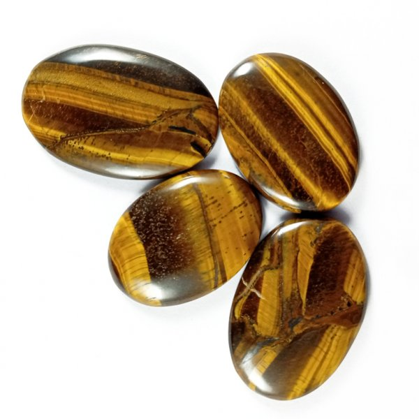 235CTS 4Pcs. WHOLESALE LOT NATURAL TIGER EYE MIX CABOCHON LOOSE GEMSTONE