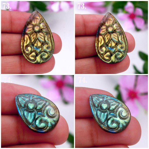 Natural Multi Color Labradorite Carving Mix Shape Cabochon Loose Gemstone