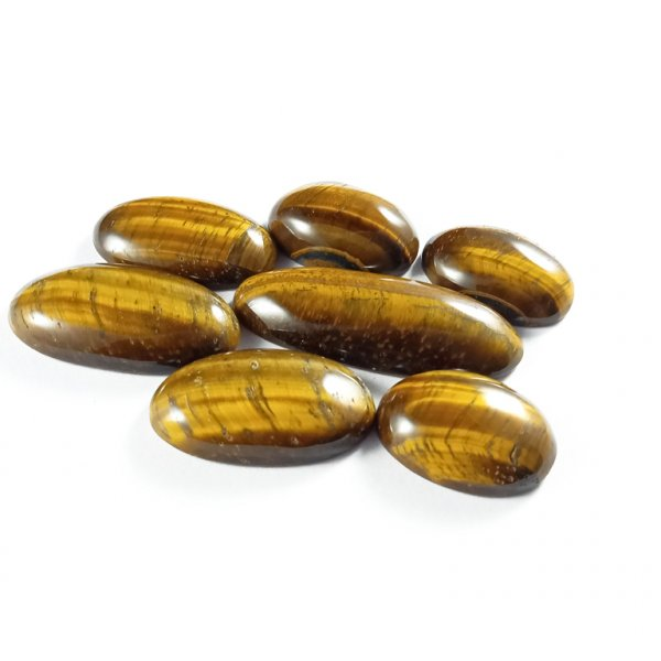 56CTS 7Pcs. WHOLESALE LOT NATURAL TIGER EYE MIX CABOCHON LOOSE GEMSTONE