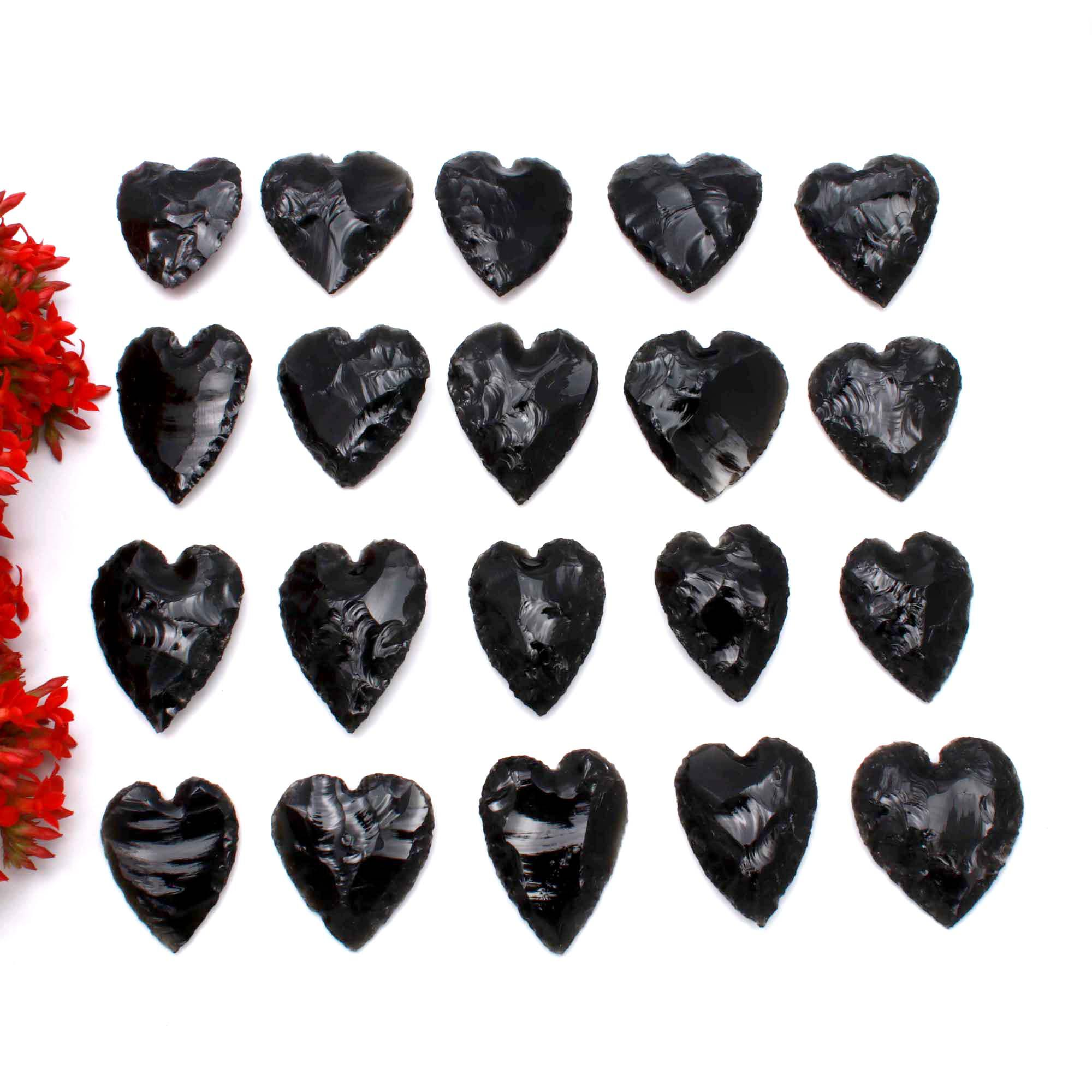 Black Obsidian Heart Carving