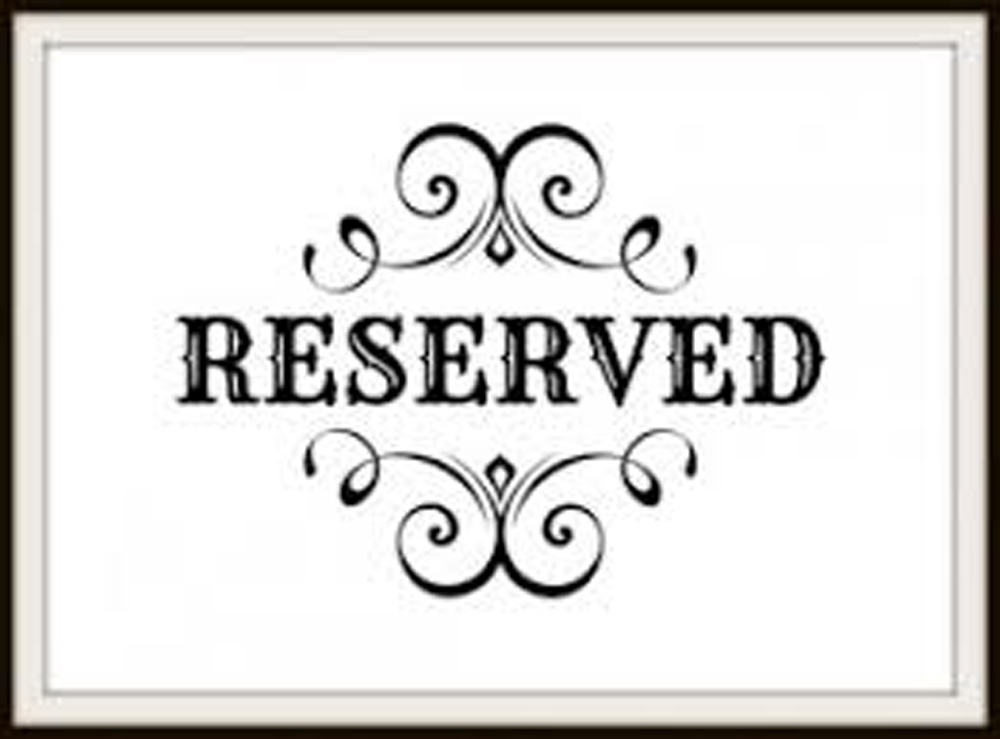 Reserved for Tashira Bryant