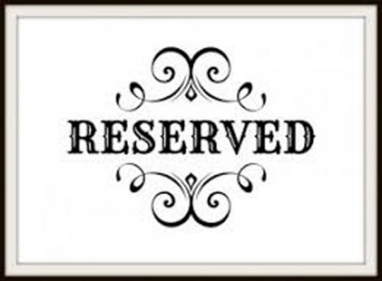 Reserved  (express shipping )
