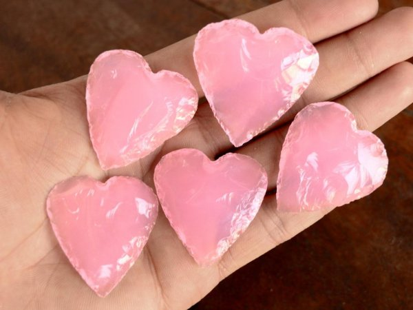 Rose Quartz Heart carving