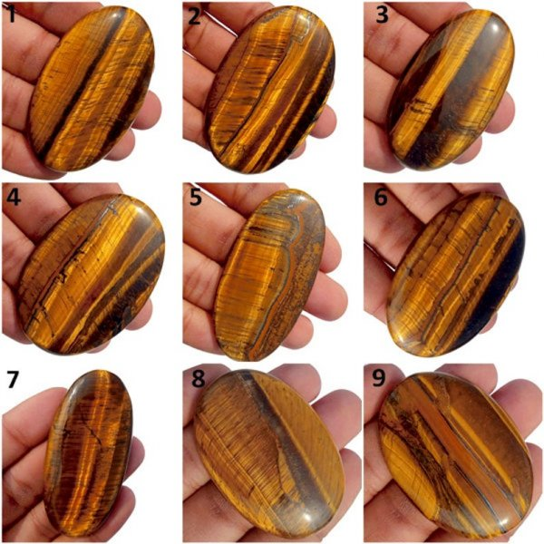 Natural Golden Tiger eye Oval Shape Cabochon
