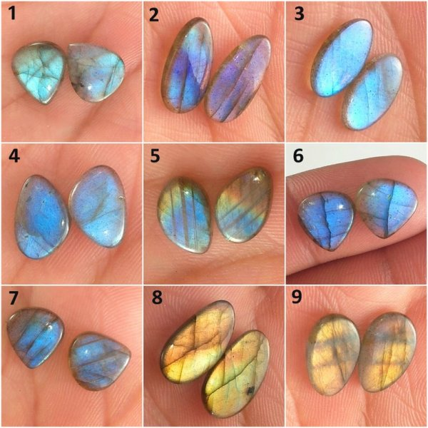 Labradorite Matching Pair Mix cabochon loose Gemstone
