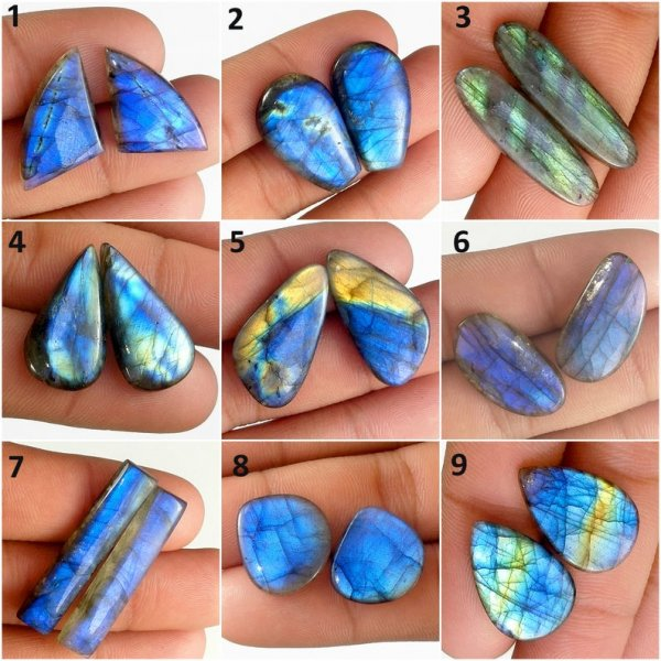 Labradorite Matching Pair Mix cabochon gemstone